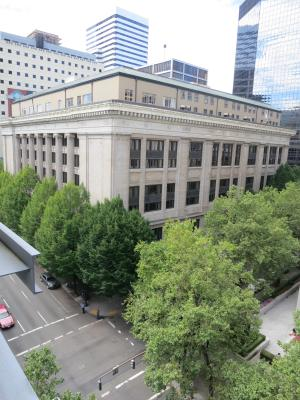 Multnomah County's Central Courthouse in downtown Portland