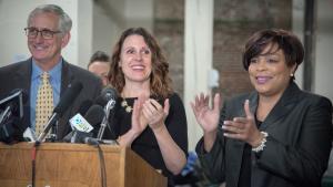 Mayor Charlie Hales, Chair Deborah Kafoury and Commissioner Loretta Smith