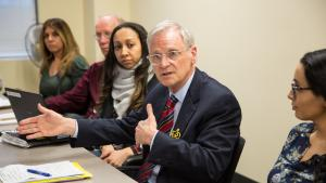 Rep. Earl Blumenauer meets with Multnomah County officials and staff.