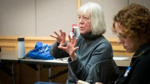 Melissa Madenski, a volunteer tutor, worked as the literacy coordinator for Multnomah County Library before retiring in 2012.