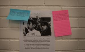 Teens added their stories to a historica timeline during an immigrants' rights workshop organized by the Multnomah Youth Commission.