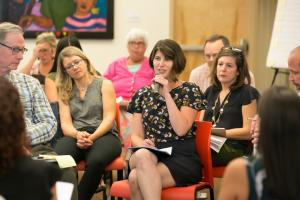 Margaret Salazar, director of Oregon Housing and Community Services, speaks during a summit Sept. 14, 2017, on supportive housing.