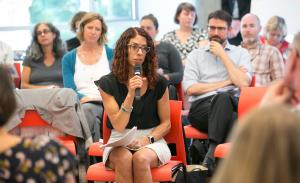 Rebecca Ramsay of CareOregon speaks during a summit Sept. 14, 2017, on supportive housing.