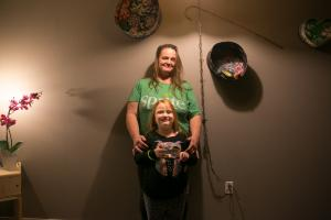 Stephanie Ramirez and her daughter Surri Noelle in their new apartment.