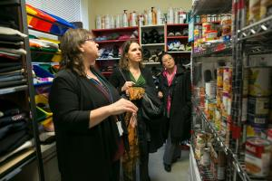 One of the features of My Father's Place is a walk-in food pantry where families can shop.