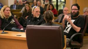Neighbors testify in support of the shelter site at 6144 SE Foster Road.