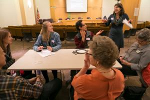 Small groups talk about their vision for a well-functioning mental health system.
