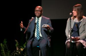 Koffi Dessou of the Portland Office of Equity and Human Rights speaks during the SPARC kickoff event March 19, 2018.