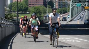 Multnomah County has long supported biking for health like this 2018 employee ride.