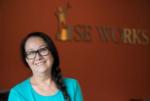 Diane Rivera, winner of the 2018 HILLTOP Award for Agency Staff/Volunteer Achievement