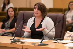 Kelly Gonzales, Ph.D., an assistant professor in the OHSU-PSU School of Public Health