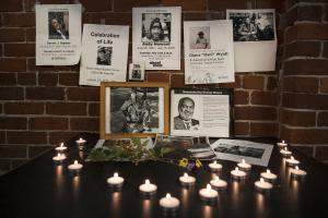 A memorial at Street Roots to those who have passed away