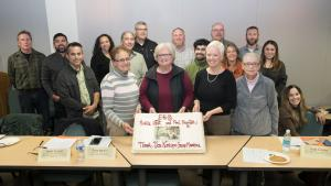 members of the food pod work group gathered Nov. 15 to celebrate months of hard work.