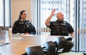 Members of the Multnomah County Sheriff's Office's HOPE Team participate in Point in Time Count planning.