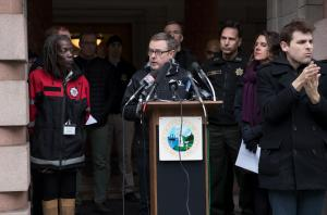 PBOT Director Chris Warner explains the Portland's severe weather plan for clearing roads Feb. 8.