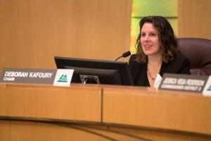 Chair Deborah Kafoury speaks at board briefing on Construction Diversity and Equity Fund.