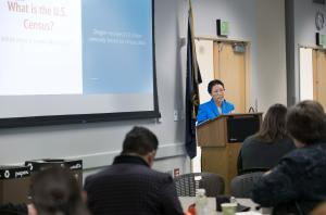 Commissioner Lori Stegmann hosts planning meeting for 2020 census.
