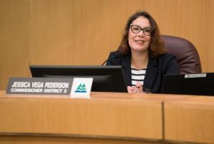 Commissioner Jessica Vega Pederson.