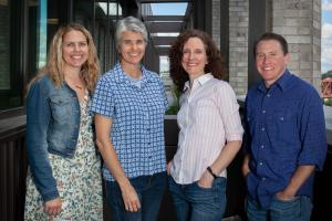 Multnomah County needs help fighting the spread of HIV. From left, epidemiologist Taylor Pinsent, Communicable Disease Kim Toevs, Health Officer Dr. Jennifer Vines and investigation lead Jaxon Michell.