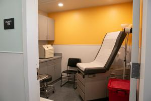 The clinic at the River District Navigation Center.