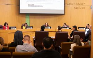 The Multnomah County Board of Commissioners on Tuesday heard updates on $5.4 million in looming cuts to public safety programs Countywide after a significant reduction in funding from the Oregon Legislature.
