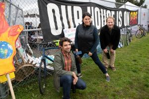 Office of Sustainability Staff at the Climate Strike March September 2019