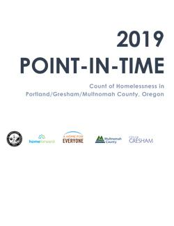 2019 Point in Time Count Cover