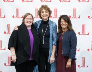 Metro Councilor Christine Lewis poses with former Multnomah County Commissioner Diane McKeel and Multnomah County Commissioner Susheela Jayapal.