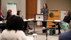 """Chair Deborah Kafoury, who kicked off the conference, said the ensuing discussion would serve as """"a catalyst for a collective vision of public safety."""""""
