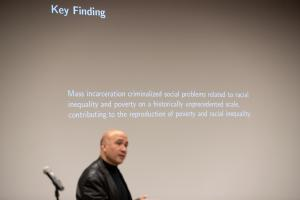 Bruce Western, a professor of Sociology and Social Justice at Bryce University and Co-Director of the Justice Lab at Columbia University, shared several striking statistics about incarceration and supervision in the United States.