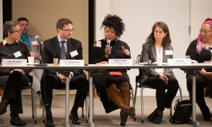 Ebony Clarke, Director of Mental Health and Addiction Services shared her perspective at Thursday's conference.
