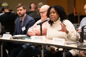 Multnomah County Department of Community Justice Director Erika Preuitt shared her perspective at the conference.
