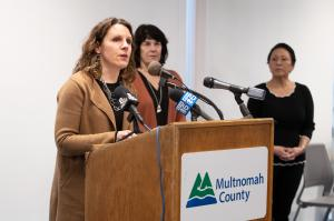 Chair Deborah Kafoury called on community to connect in creative ways as physical distancing measures set in.
