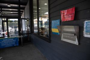 Ballots can be returned to the 24-hour Library Book Drops. Outside the Rockwood Library location.