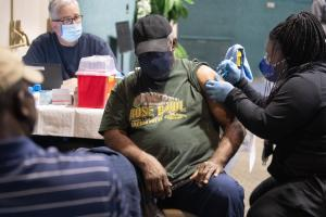 The County works with community to stand up vaccine clinics for people most at risk.