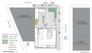 Aerial rendering of planned Behavioral Health Resource Center