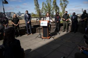 """Multnomah County leaders announce """"all hands on deck"""" to fight gun violence"""