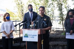 Over the last year, Multnomah County Sheriff Mike Reese has laid the foundation for a stronger collaboration between the Gresham Police Department(link is external), Department of Community Justice, the City of Portland's Office of Violence Prevention,(li