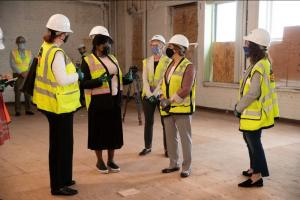 Rep. Suzanne Bonamici toured the future site of the Behavioral Health Resource Center, located at 333 SW Park in downtown Portland.