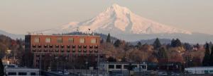 Multnomah Building and Mt Hood