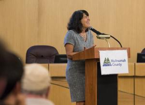 Commissioner Sharon Meieran at MHR Presentation