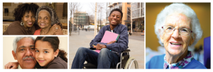 Diverse older and disabled people