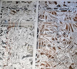 Barbara Earl Thomas' steel murals depict the places of Multnomah County.