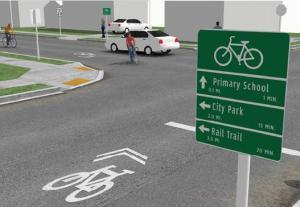 City of Gresham bike signage installation