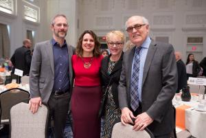 Multnomah County Chair Deborah Kafoury poses with her family before her 2017 State of the County speech: husband Nik Blosser, from left, stepmother Marge Kafoury and father Stephen Kafoury.