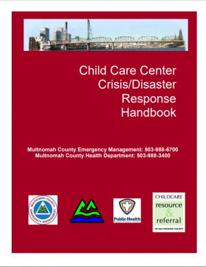 Cover image of Child Care Center Disaster Response Handbook