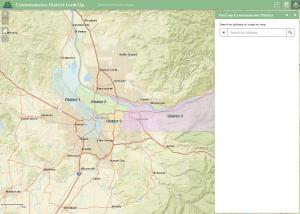 Multnomah County district-look up map