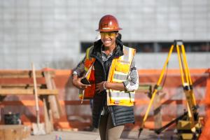 Construction worker on Multnomah County project.