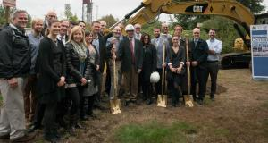 Central Courthouse project team members at October 2016 groundbreaking