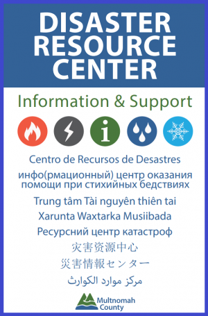 Disaster Resource Center sign in multiple languages